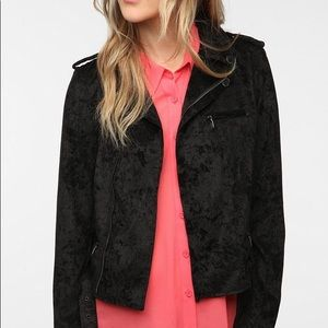 4 for $20 🖤 UO INSIGHT Velvet Moto Jacket, 8